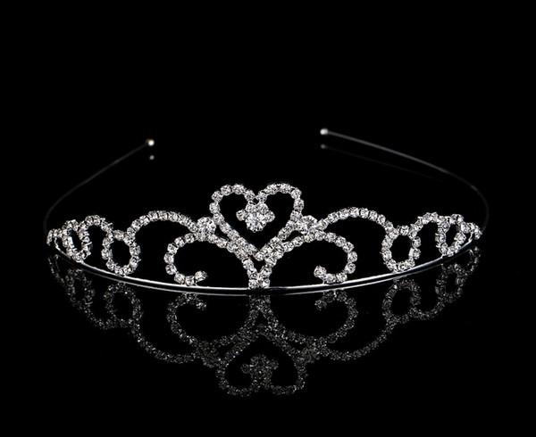accessories etc Hot sale Celebrity Cute Little Girl Rhinestone Princess Crown Headband Tiara Hair Sticks hair band hairband accessories