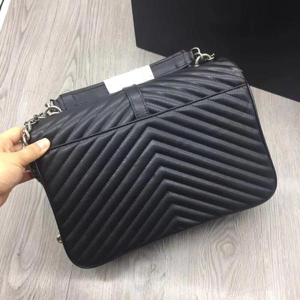2019 brandneue Mode Frauen Einkaufstasche mit einer Klappe Tasche aus hochwertigem echtem Leder Handtasche feste Schulter Messenger Bags