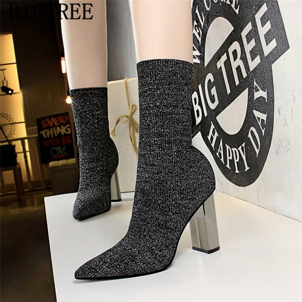 women shoes socks boots shoes bigtree thigh high boots ankle for women botines mujer 2019 zapatos de mujer ayakkabi