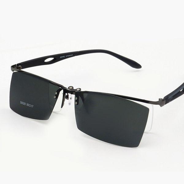 Luxus-Vazrobe Clip on Sonnenbrillen Herren Polarized Driving Sonnenbrille für Mann Diopter Driver Magnetic Sunglass Brillengestell Herrenbrille