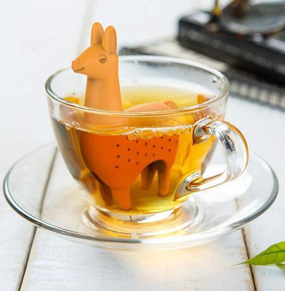 Silicone Tea Infuser Llama Shape Tea Strainer Filter Reusable Tea Diffuser Ball Drinkware tool Kitchen home Accessories