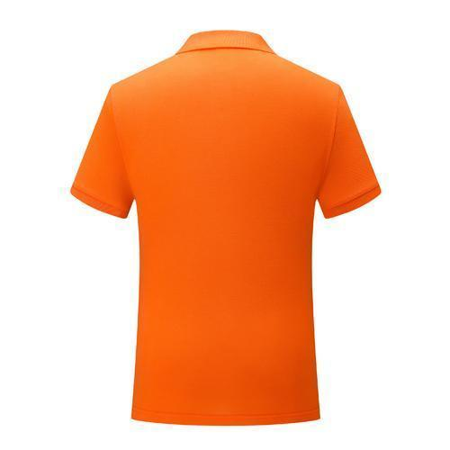 Klassische 2019 Nanometer einfach, neue Kurzarm Baumwolle T-Shirt Uniformen orange Herren und Damen POLO SD-2chongfu-85 schrumpfen