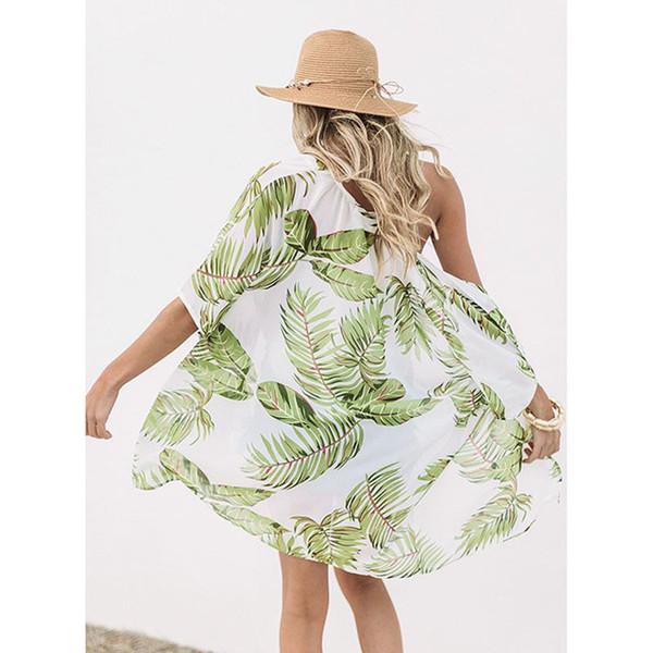 2019 Bohemian Printed Cover-ups Sexy Summer Beach Dress Cotton Tunic Women Beachwear Swimsuit Cover Up Bikini Wrap Sarongs Y190727