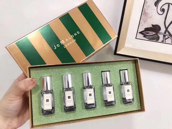 Moda Kadın 9ml * 5 Parfüm Şeker yeşil 5 kokular Deodorant Eau De Kokusu Noel Hediyesi Ücretsiz Kargo Sprey Kalıcı Tütsü