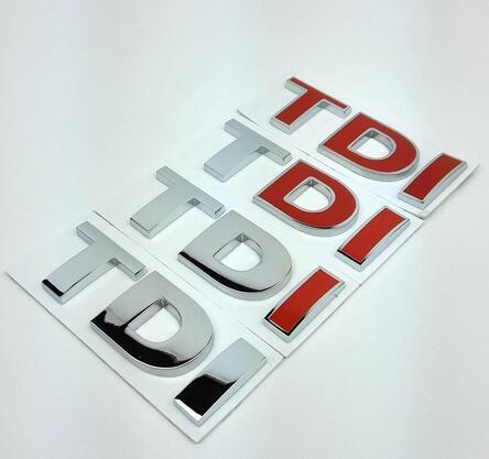 TDI Emblema Emblema Decalque Adesivos Logotipo para Volkswagen VW Polo Golf Jetta Passat b5 b6 GTI Touran Bora Car styling acessórios do carro