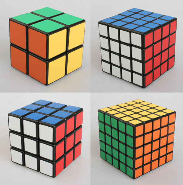Cubo mágico 2x2 3x3 4x4 5x5 Velocidade Jogo de Puzzle Ultra-Suave Torção Crianças Toy Presente Caixa de Tecido Preto