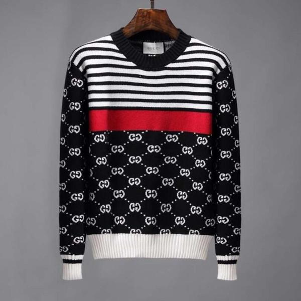 Nuevos productos de fábrica GUCCI nuevo suéter de calidad suéter de los hombres capa de la marca delgado suéter pullover hombres O collar de gran tamaño M-3X