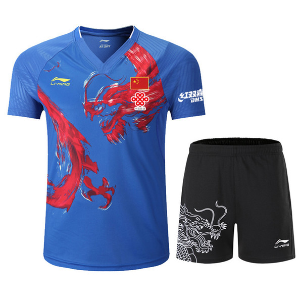 Table Tennis T-shirt National Team Competition Wear CP Player Edition Top 12 Chinese Dragon Sports Wear, Badminton T-shirt, Tennis Shirt
