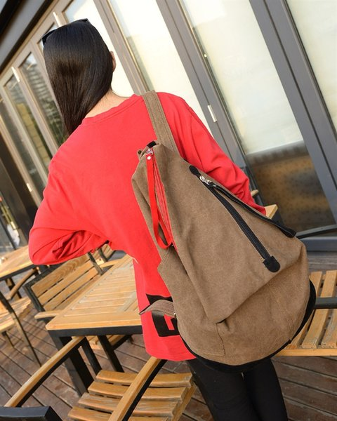 Unisex Canvas Backpack Women Vintage School Bags Laptop Bag Big Travel Backpack Men Schoolbag Fitness Gym Softback Rucksack #171425