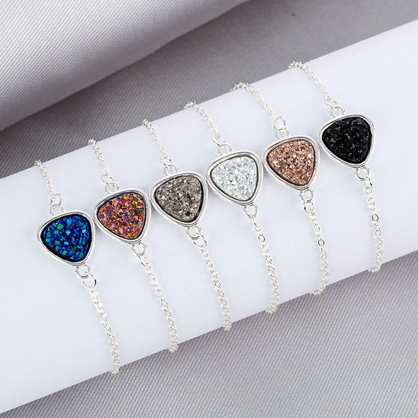 Women Bracelets Peach Heart Diamond Jewelry Ladies Bracelet Crystal Cluster Bracelets Natural Stone Ornaments in Stock Christmas Small Gifts
