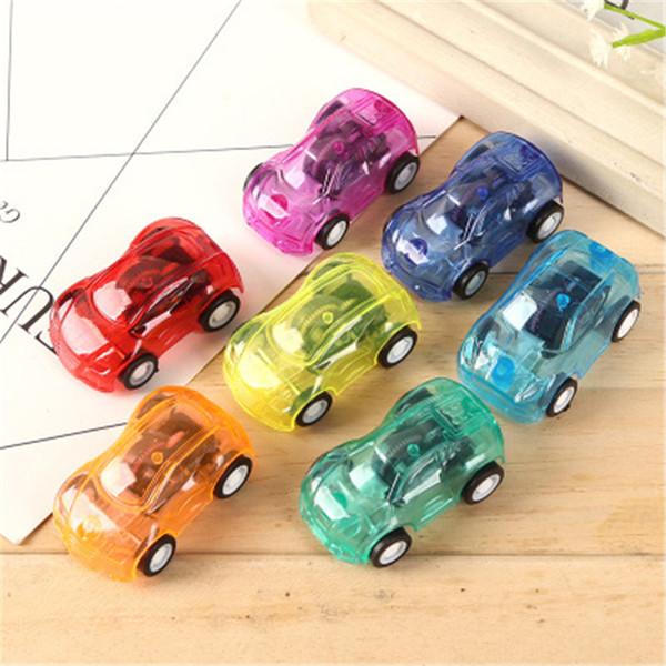 Mini-enfants jouets retirer la voiture de course transparent couleur de bonbons jouet en plastique course retour Pull Back Car Filler Mignon jouets de voiture Livraison gratuite
