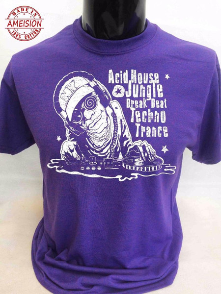 Acid House Jungle T-Shirt S-3XL Mens Techno Trance Music Festival Dance Dub Rave New T Shirts Funny Tops Tee New Unisex