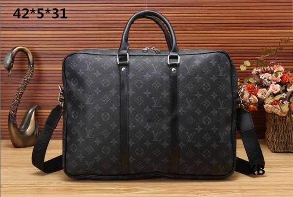 2018 года новый мужской портфель роскошный бизнес-пакет горячей продажи ноутбук сумка кожаная сумка мессенджер пакет сцепления