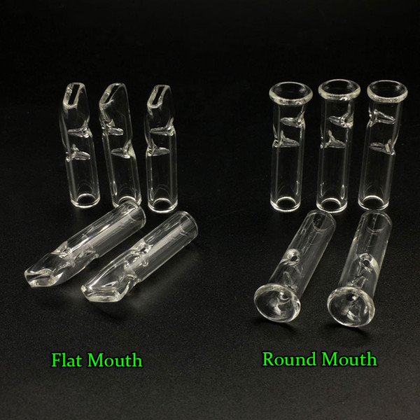 Mini Glass Filter Tips for Dry Herb Tobacco RAW Rolling Papers With Tobacco Cigarette Holder Pyrex Glass Round & Flat Mouth Filter Tips