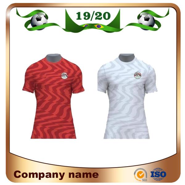 Nuevo 2019 Egypt Home Red Soccer Jersey Egypt 19/20 Egypt # 10 M.SALAH Camiseta de fútbol Camiseta blanca de fútbol de la Selección Nacional de Fútbol ventas de uniformes