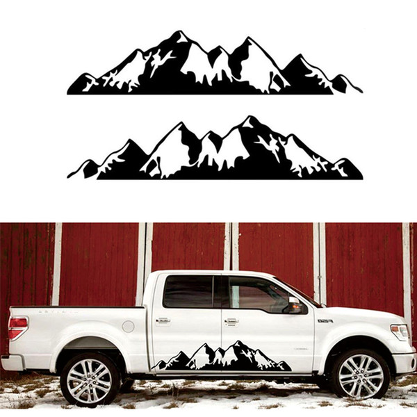 2019 For Truck RV Motorhome Door Body Vehicle Sticker Snow Mountain Decal  Vinyl 198x43cm From Haolincar, $28 6 | DHgate Com