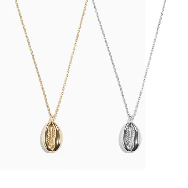 boho natural cowries gold shell necklace women pride collares largos de moda 2018 bohemian best friend shell pendant necklace