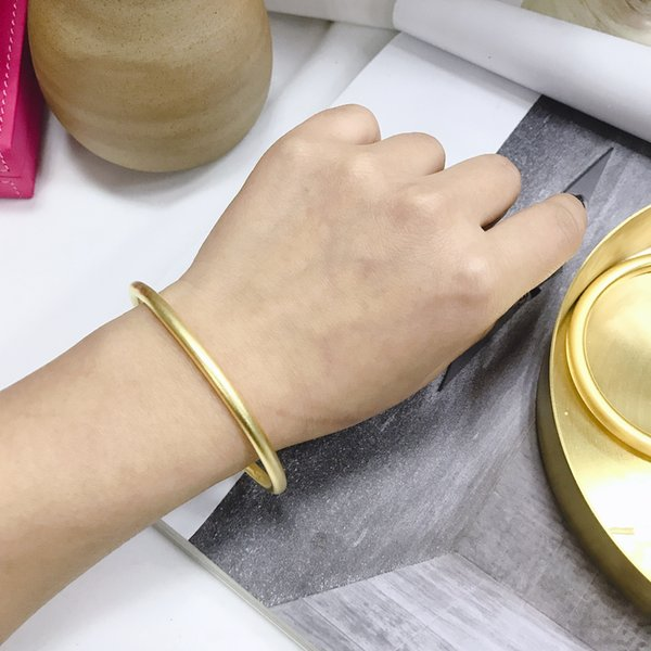 Gold and gold ancient bracelets s999 pure silver heritage series vibrato explosions smooth frosted bracelet 6346