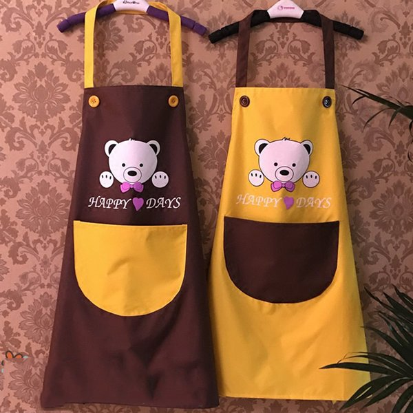 top popular Waterproof Apron Cartoon Animals Panda Kitchen Cooking Bib Apron Sleeveless Anti-oil Waist Bib Lovely Kitchen Cooking Accessory 2020