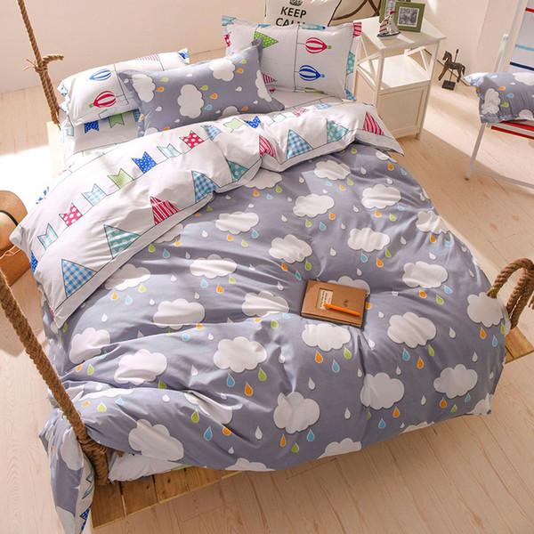 Bedding Set Single Twin Full Double Size Quilt Comforter Duvet Cover Soft Cotton Bed Linen Child Kids Bedspreads 24