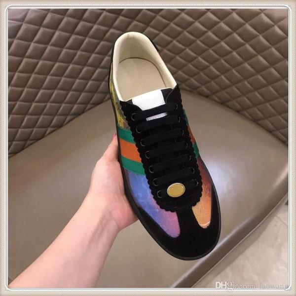 Top Chaussures Hommes de luxe Espadrilles Avec boîte de chaussures originales Chaussures de sport Zapatos para hombre cuir Sneaker Chaussures Mode