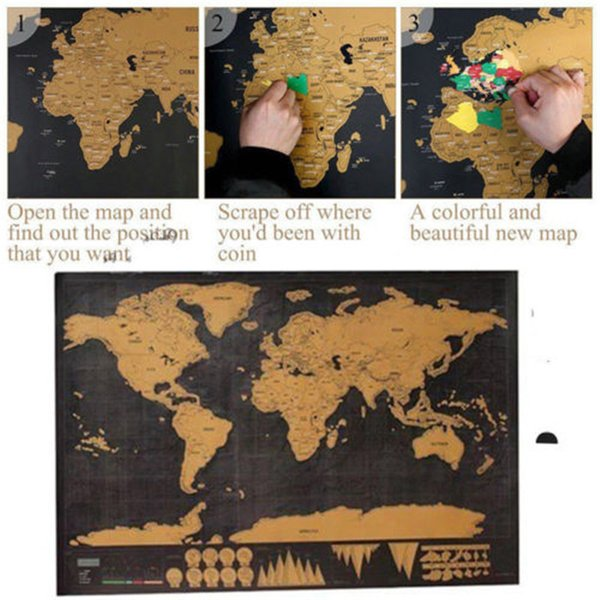 Deluxe Scratch Off World Map Poster Journal Log Giant Map Of The World on giant globe maps, world map with countries poster, small world map poster, giant periodic table poster, extra large world map poster, high resolution world map poster, ikea world map poster,