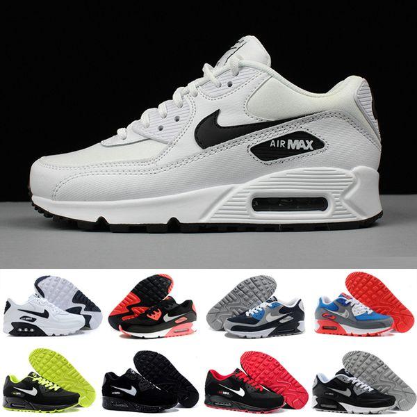 Compre Nike Air Max 90 Airmax 2018 Venta Caliente Cushion Zapatos Corrientes De Los Hombres De Alta Calidad Nuevas Zapatillas De Deporte Barato