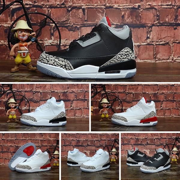 Acheter Nike Air Jordan 3 Garçons Filles 3s Chaussures De Basket Retro J3 Noir Blanc De $63.04 Du Hyshoes | DHgate.Com