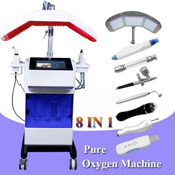 Professional microdermabrasion machine oxygen aqua jet peel for skin treatment ultrasonic skin scrubber machine facial skin clean