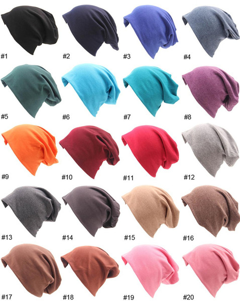 Men's Cool Cotton Beanie Knit Hat Slouch Skull Cap Long Baggy Hip-hop Winter Summer Casual Hats for Male and Female
