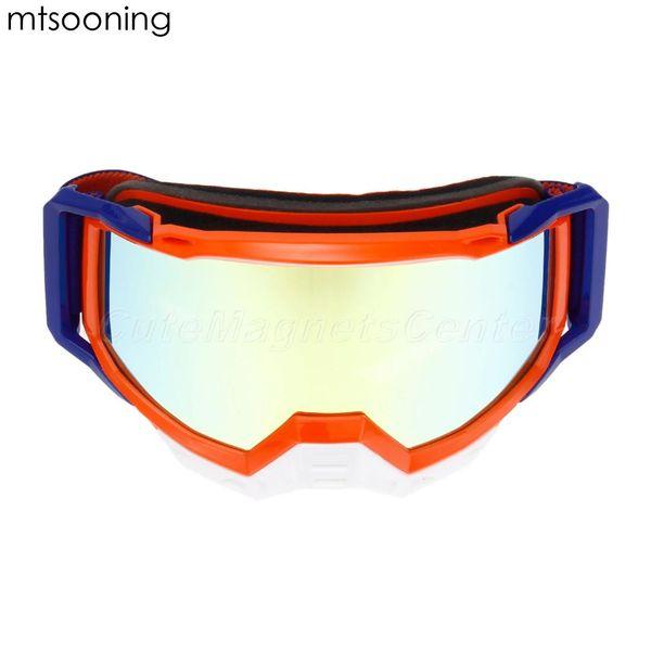 Óculos de Motocross mtsooning Óculos REVO Orange Racing Casco Moto Óculos de Sol ATV Casque Clipe Groove com miopia espelho