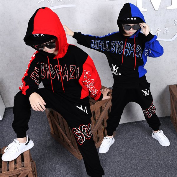 hot 2019 Hip-hop baby Sweatshirt HBA clothes kids clothes long sleeve casual boy clothe red blue Sportswear high quality
