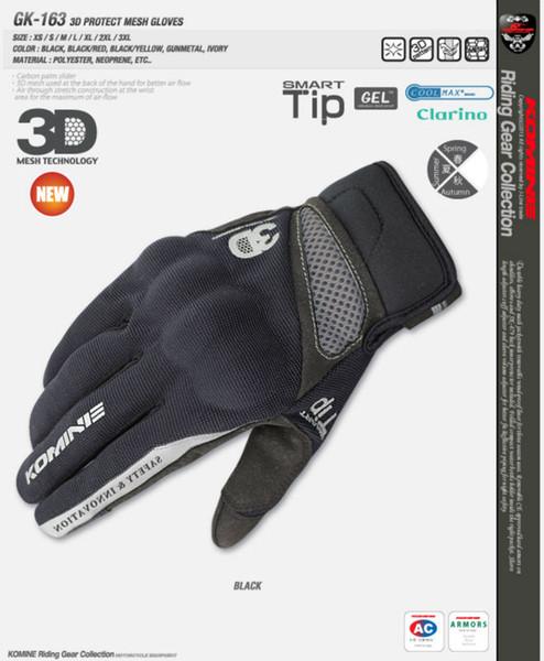 KOMINE GK-163 3D Protect mesh Guanti moto guanti traspiranti Touch Screen