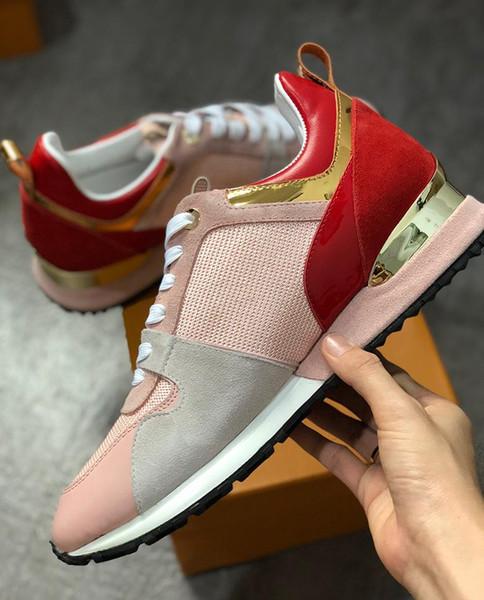 Marka erkek Tasarımcı sneakers unisex eğitmenler ayakkabı koşu ayakkabı erkekler womens koşucular daireler için Hakiki Deri marka racer lüks ayakkabı w01