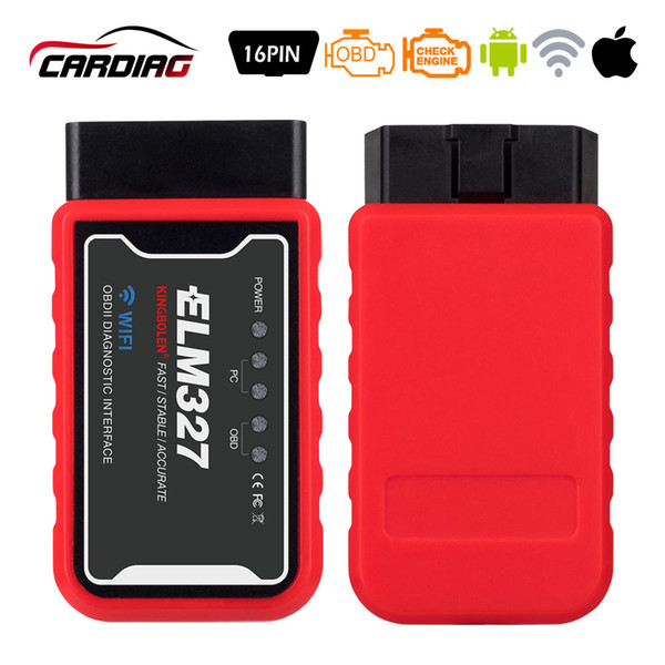 ELM327 WiFi V1.5 PIC18F25K80 Chip OBD2 Diagnostic Tool For IPhone/Android/PC ELM 327 V 1.5 Auto Scanner Torque OBD Code reader