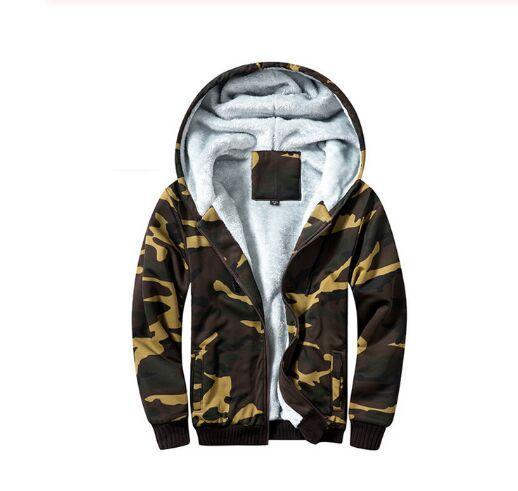 Inverno Uomo Giacche Pile cappuccio caldo Spesso Parka Velvet antivento Cappotti Cardigan Felpe con cappuccio Zipper Uomini Hoodie Jacket 2020