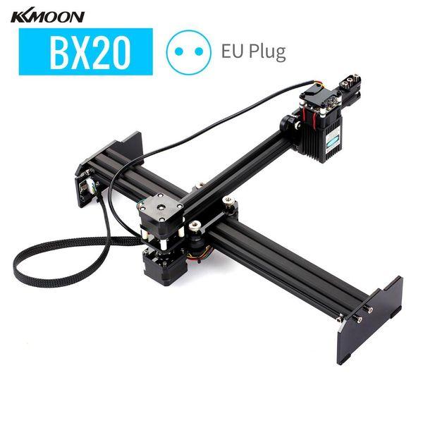 top popular KKMOON 20W Portable DIY Laser Engraving Cutter Machine High Speed Mini Desktop Laser Engraver Printer for Wood Plastic Leather 2021