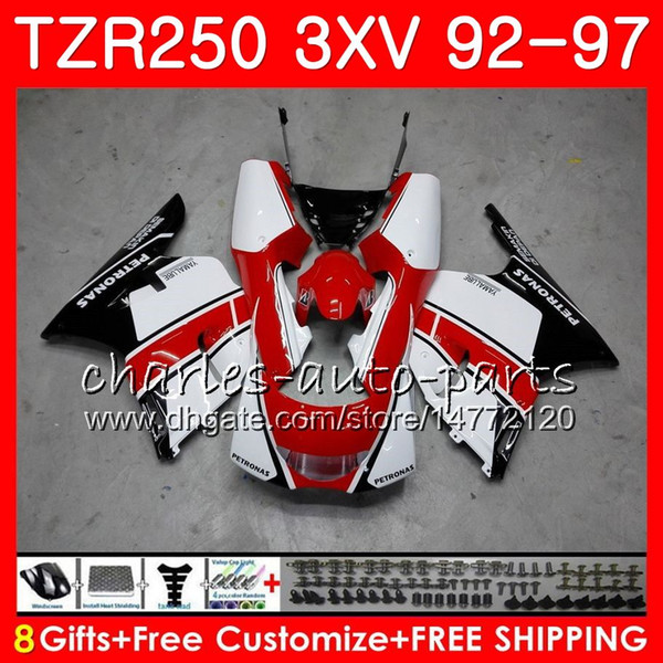 Body For YAMAHA 3XV TZR250 1992 1993 1994 1995 1996 1997 119HM.45 TZR250RR RS cowling white TZR 250 YPVS TZR-250 92 93 94 95 96 97 Fairings