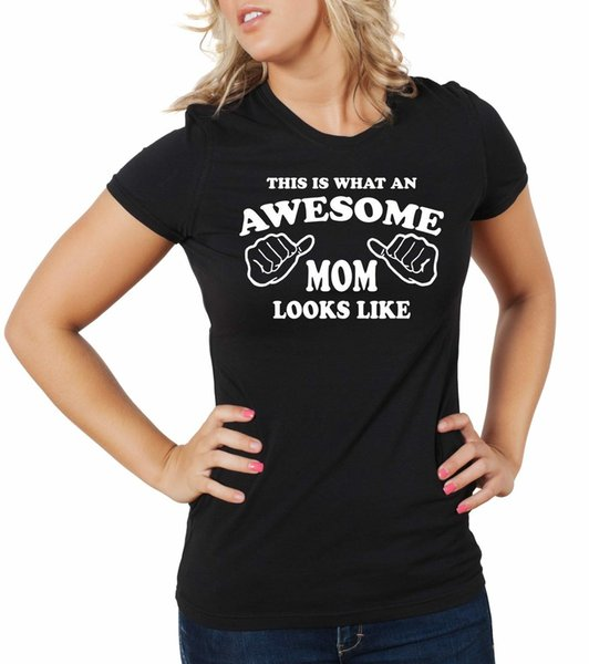 Gift for Mom Awesome Mom T-shirt Gift for Mother Mom Mommy Birthday Gift Tee Men Women Unisex Fashion tshirt Free Shipping