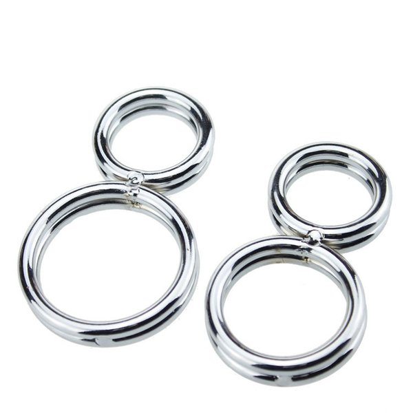 new style 304 stainless steel metal male penis cock ring for men erotic toys circle eight delay-time ring ing