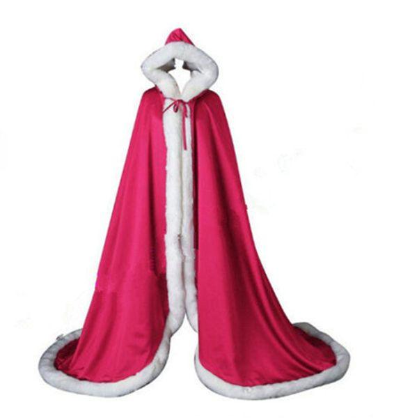 2019 Bridal Winter Warm Long Wedding Cloak Cape White Faux Fur Cape Wedding Cape