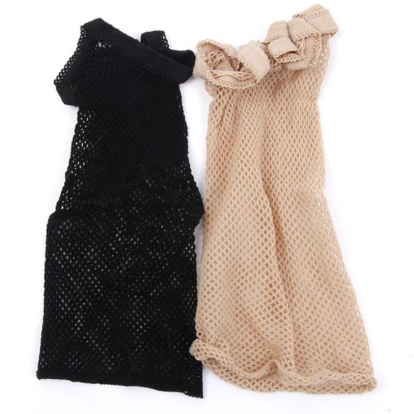 Filets à cheveux de bonne qualité, tissage de la maille noire, perruques noires, fabrication de filets à capuchon