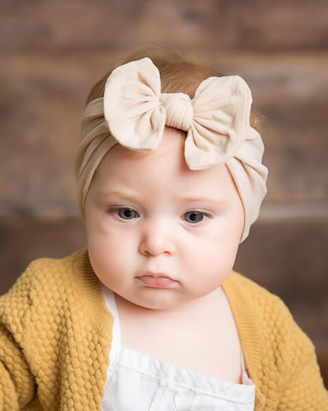 Новый Богемный детский Ремень для Волос Детские Нейлоновые Шелковые Носки Бабочка Узел Широкий Обруч для Волос в Европе и Америке WL326