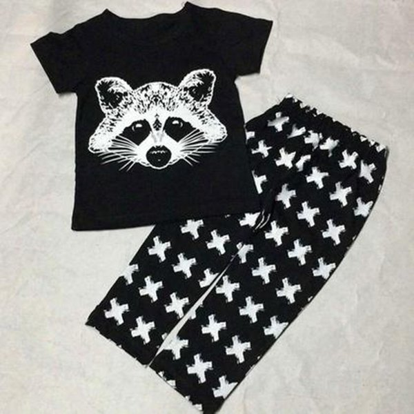 2019 Europe and the United States Baby Girls Boys Fox Cotton Tops T-shirt + Pants Leggings 2pcs Outfits Set Costume