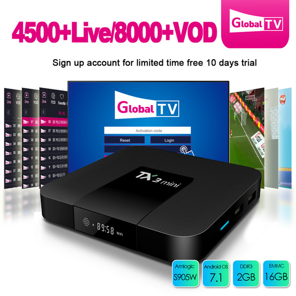best selling Android tv box IPTV boxes TX3 2gb 16gb TX3 MINI S905W quad core Smart TV 4K Streaming Boxes best sell 2019