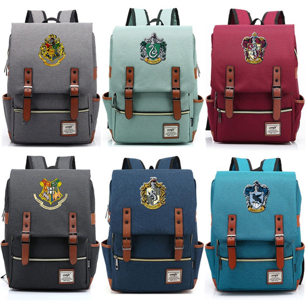 Vip Bağlantı Sihirli Hogwarts Ravenclaw Slytherin Gryffindor Erkek Kız Öğrenci Okul çantası Gençler Okul, Kadın Erkek Sırt Çantası