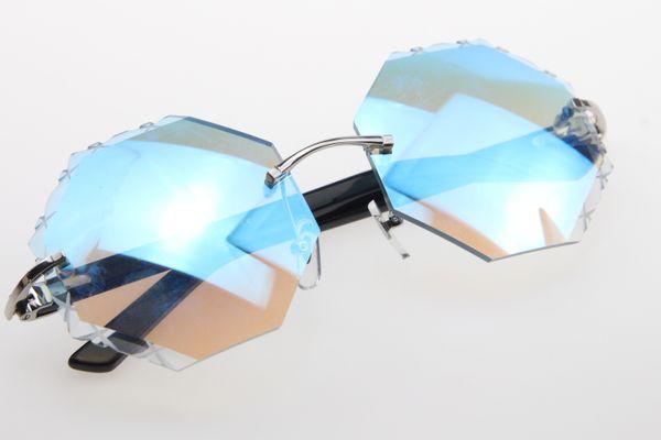 Lens espelho azul prateado