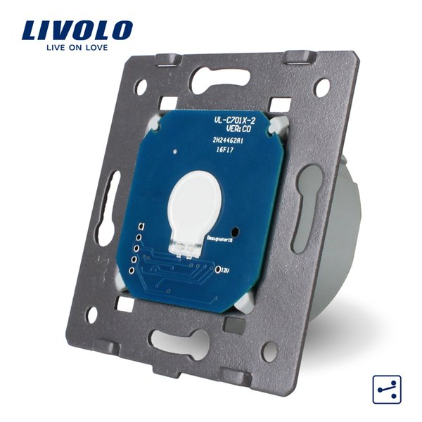 Livolo EU Standard,1 Gang 2 Way Control, AC 220~250V, Wall Light Touch Screen Switch Without Glass Panel
