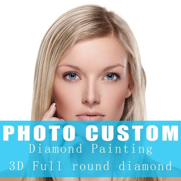 Photo Custom Diamond Painting Cross Stitch Full round Picture of Rhinestone 5D DIY Diamond Mosaic Diamond Embroidery Sale