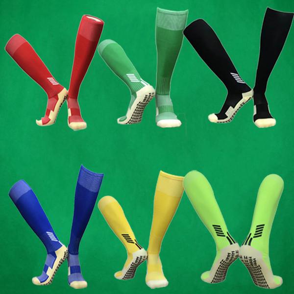 Benwon Anti-Slip respirável Men Verão Correndo algodão e borracha Stocking Futebol Meias Mulheres Ciclismo meias toalha Stocks parte inferior longos